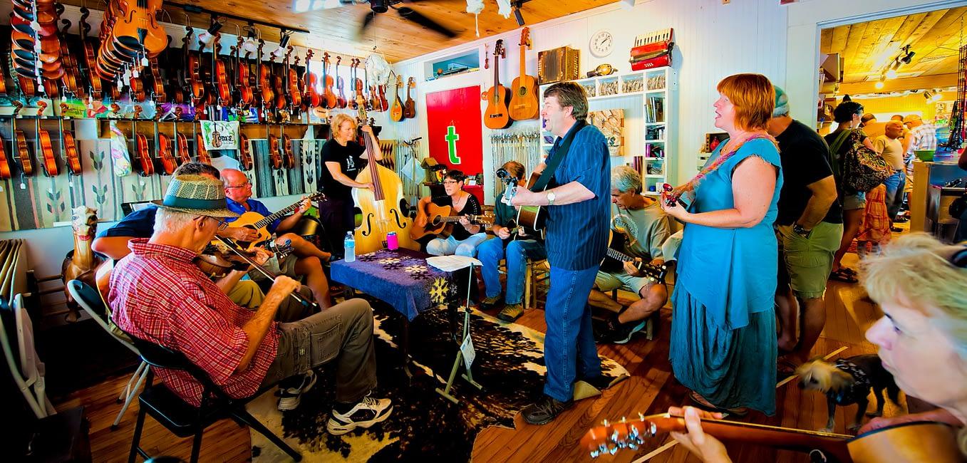 cajun music band playing