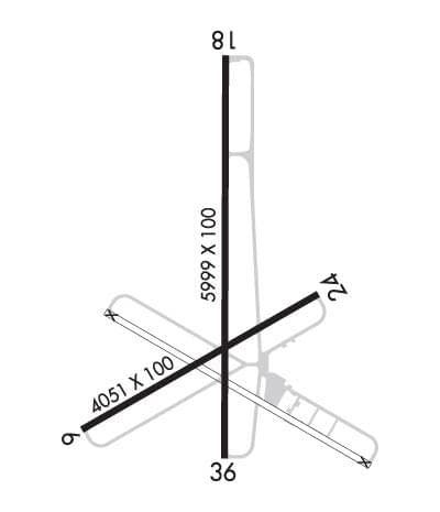 airport runway map